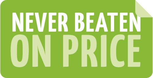 Never beaten on price